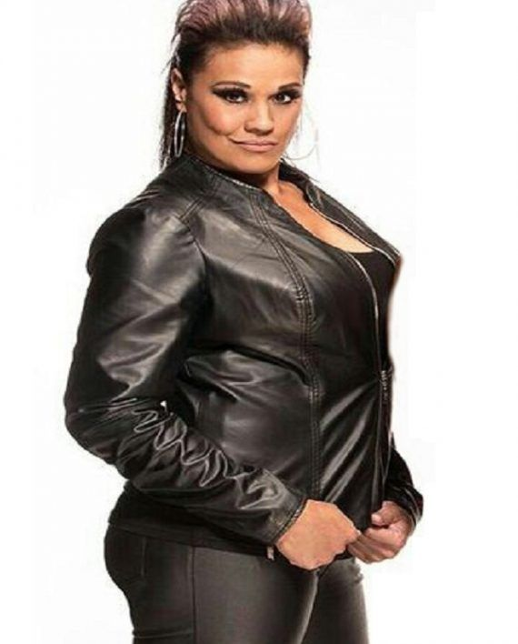 Tamina Snuka Leather Jacket (7)