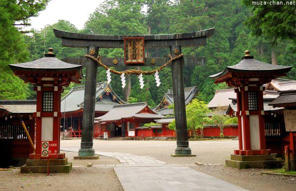 Torii at Futarasan Shrine
