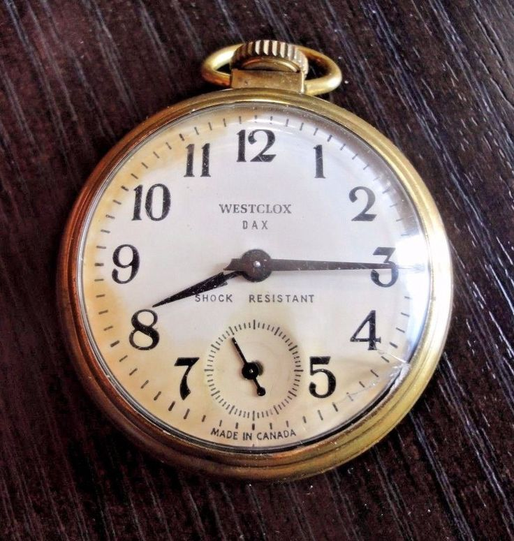 Pocket Watch Westclox Dax #Westclox