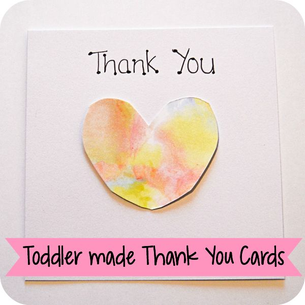 Toddler-made Thank You Cards