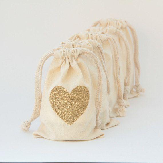 Corazón partido favorecen bolsa favor de la boda San