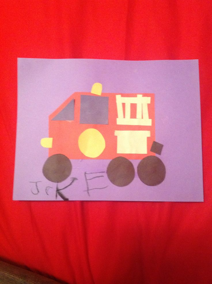 Community helpers theme firefighters kids craft jake for Health craft cookware reviews
