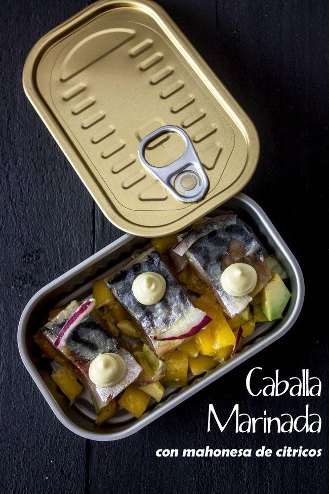 KOOKING: Caballa marinada con mahonesa de citricos