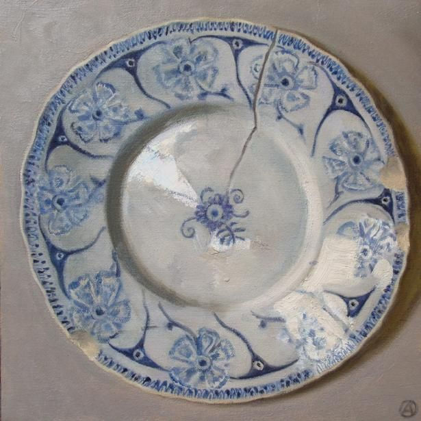 Old French Plate by Olga Antonova, Selby Fleetwood Gallery