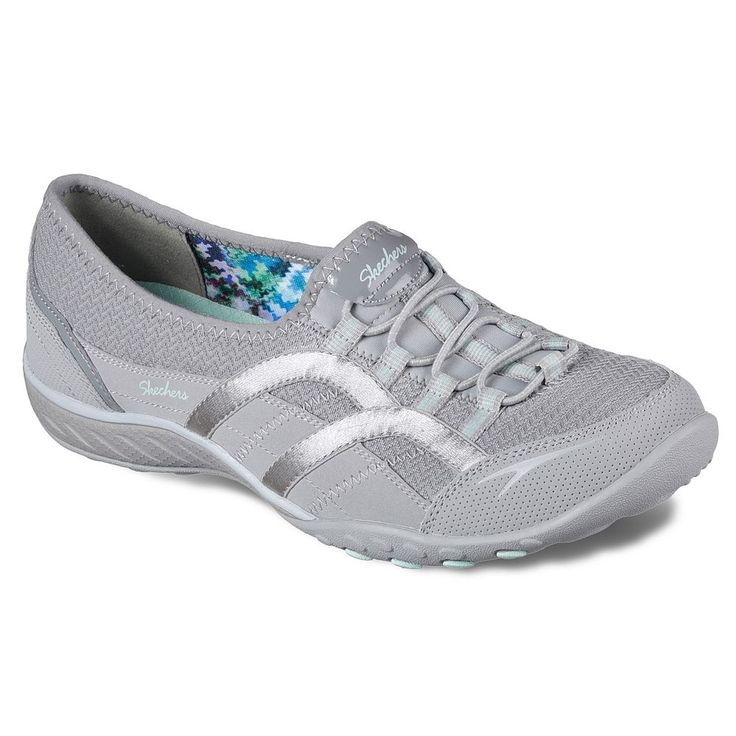 Skechers Relaxed Fit Breathe Easy Faithful Women's Shoes, Size: 5.5, Med Grey