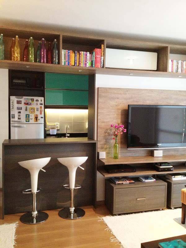 Apartamentos Pequenos: 320 Projetos De Profissionais De CasaPRO.  RackApartment IdeasStudio ApartmentSmall Living ... Part 85