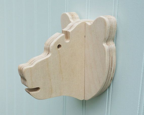 Key hook Bear head wall hanger for keys glasses by thejunglehook