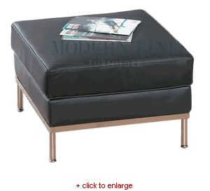 200 click to enlarge black leather ottomanle