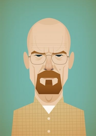 Oh Walt White -- if I hadn't recently lost all interest in the shows I used to love, I would still know what you're up to. . . . . Stanley Chow Illustration // LOOOOOVE breaking bad lol