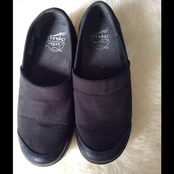 Dansko clogs sale Black canvas dansko vegan clogs good used condition Dansko Shoes Mules & Clogs