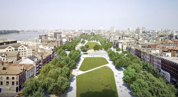 Parkeerplein wordt stadspark voor Antwerpen