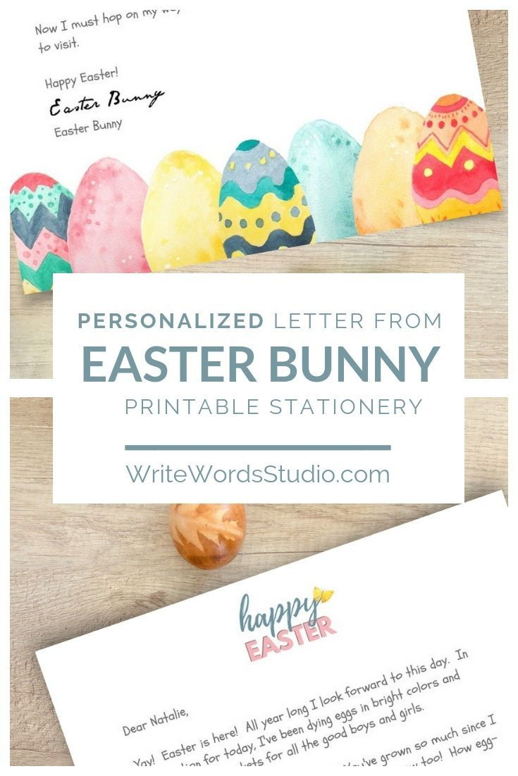 photograph relating to Easter Bunny Letterhead titled Easter Bunny Letter - Custom made Easter Basket Letter