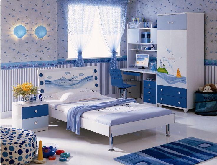 голубая детская в морской тематике