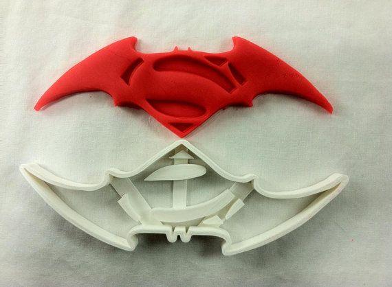 Batman vs Superman Cookie Cutter. Ships out by PlasticFanatics, $5.95