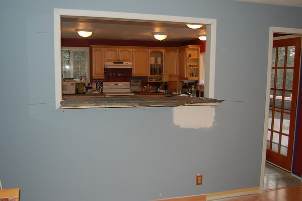 Slate Kitchen Pass Through How To Above Counter Height