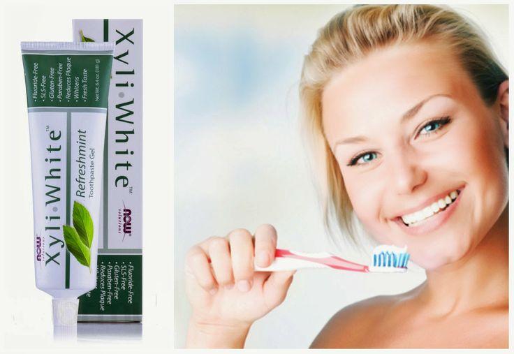 безупречная натуральная зубная паста Now Foods Solutions Xyli White, отбеливание без вреда с iHerb