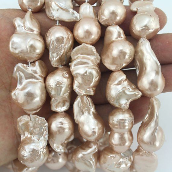 """HUGE 17/"""" 18MM WHITE BAROQUE FRESHWATER PEARL NECKLACE SILVER"""