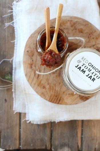 Red Onion and Tomato Jam Jars