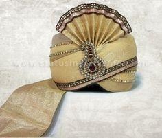 Wedding saafa, turban, men safa, velvet turban, maroon with white saafa, designer saafa