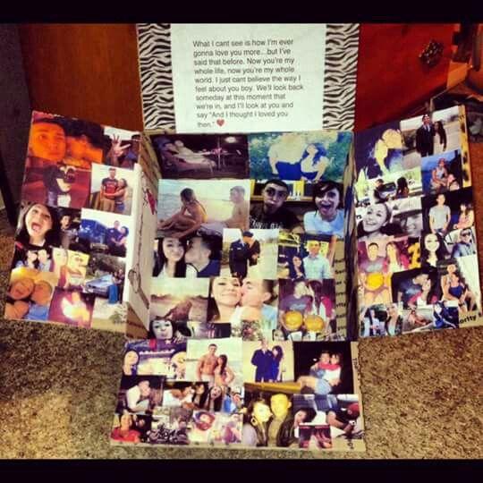 Tarjeta para recordar momentos con fotos y un pequeño mensaje
