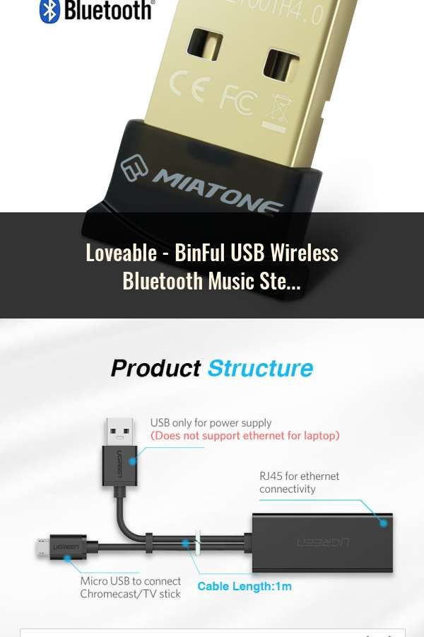BinFul USB Wireless Bluetooth Music Stereo Receiver Adapter