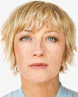 Cindy Sherman by Martin Schoeller, 2000. So strange to see her as herself.