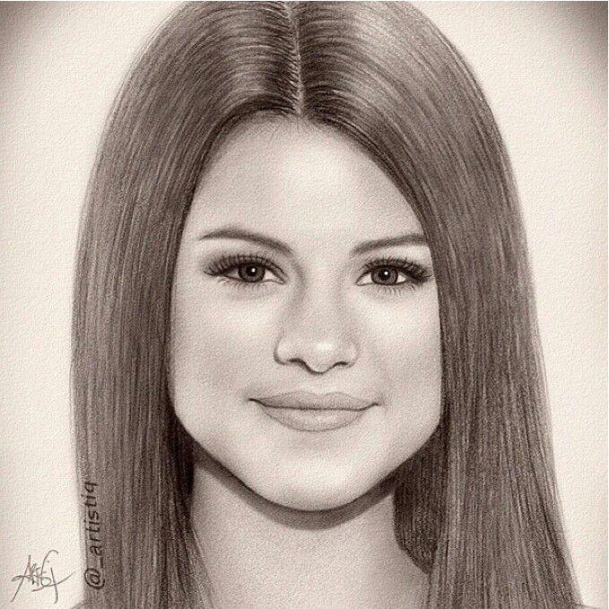Selena Gomez drawing #Shakiraesunacantantefamosaenelmundo.NacióysecrióenColombia.