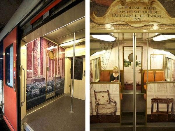 Parisian RER Train Transformed into Palace of Versailles Replica... Yet another reason we simply must go back!