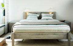 Would be kind of beachy with bright white and yellow fabrics...  Bedroom Furniture - Beds, Mattresses & Inspiration - IKEA