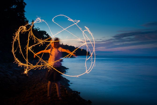 Independence Day Sparkler Photos Girl with sparkler jp danko toronto commercial photographer