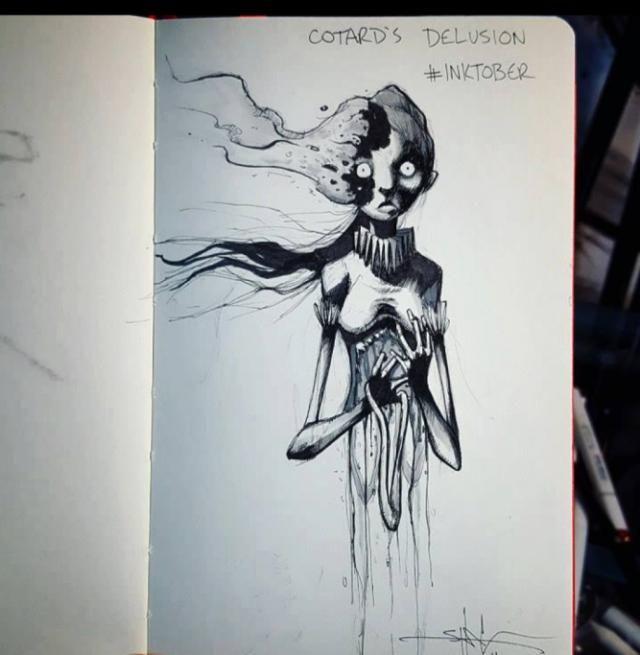 I disturbi mentali rappresentati dal disegnatore Shawn Coss