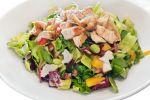 Gerookte kip salade met honing mosterd dressing recept op MijnReceptenboek.nl