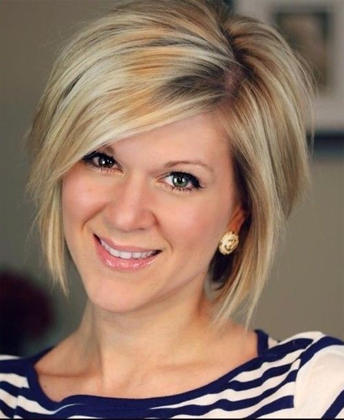 Chic Short Bob Hairstyles with Side Swept Bangs