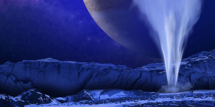 WATCH: The icy Moon, Europa has water geysers taller than everest.  Images from the Hubble Telescope.