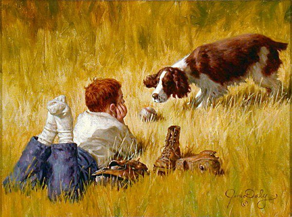 """""""Just One More Throw"""" -- by Jim Daly (1940, American)"""