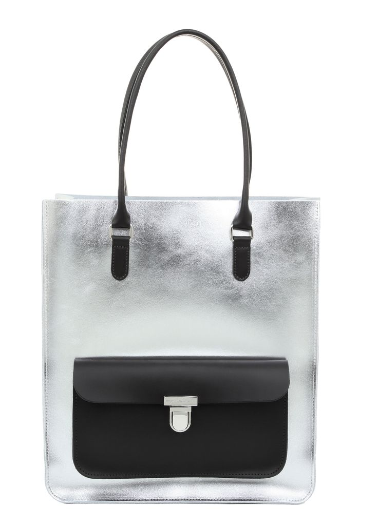 https://www.neatpr.co.uk/ Brix and Bailey Large Silver Leather Tote. www.brixbailey.com