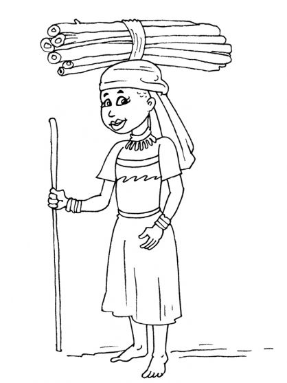 African theme coloring page africa for children for African american bible coloring pages