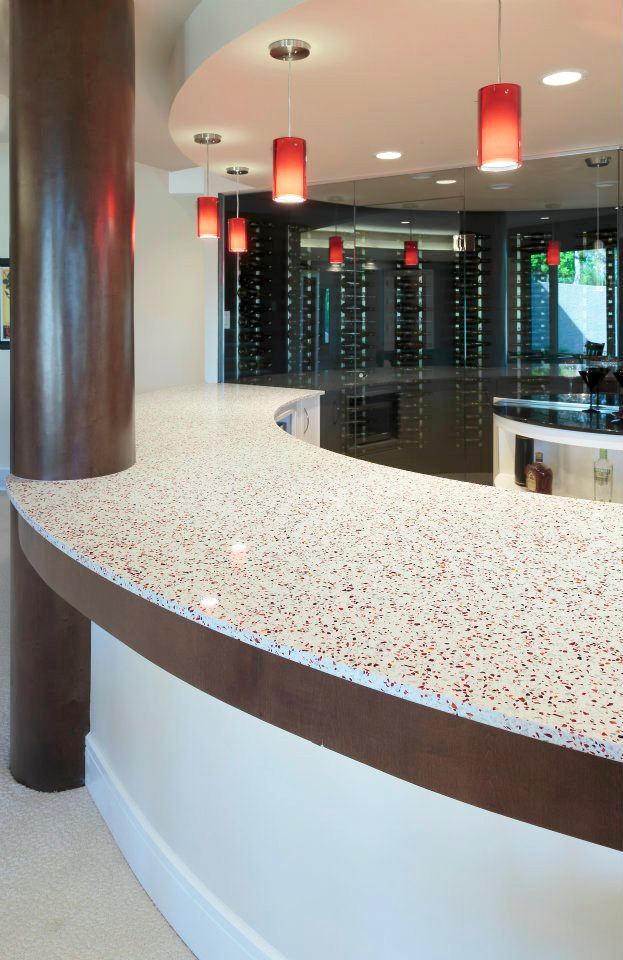 Gorgeous Bar Featuring Geos Recycled Gl Surface In Red Rocks Stunning Photos Pinterest Countertops And