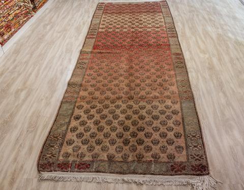 Turkish Rug, Vintage Turkish Rug 3.87x10.56 ft (118x322 cm)