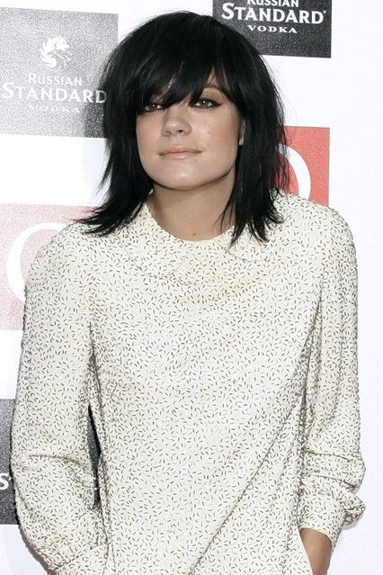 Lily Allen's new hair style at the Q Awards