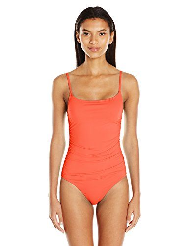 Anne Cole Women's Live in Color Shirred Maillot Solid One Piece Swimsuit, Orange, 16  Special Offer: $78.00  211 Reviews Anne Cole signature shirred lingerie maillot solid one piece bathing suitRemovable cupsAdjustable strapsShirring gives this one piece bathing suit a very...