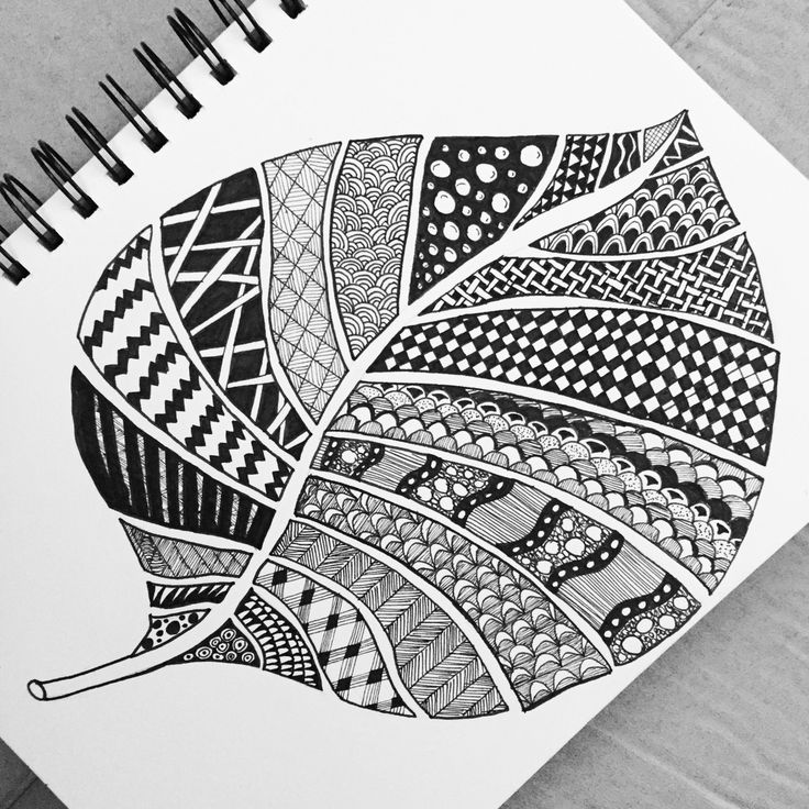 Leaf Zentangle