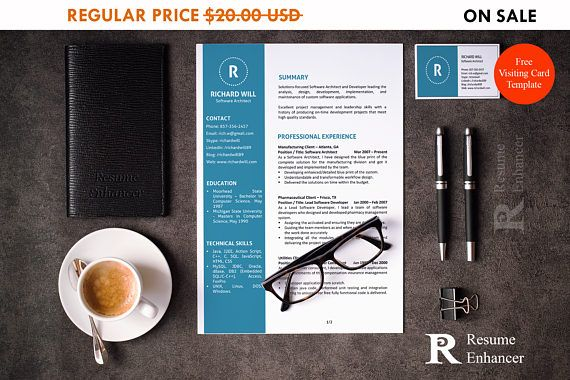 80% off SALE Resume Template and Cover Letter Template for