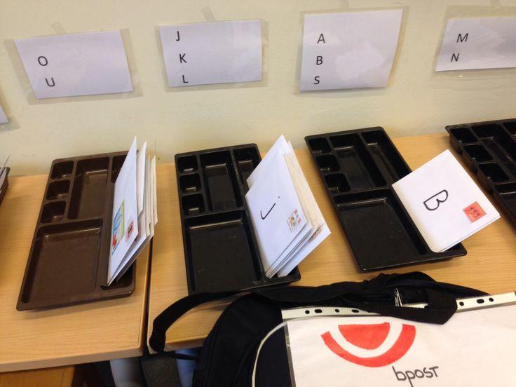 Brieven sorteren volgens letter (letterherkenning)