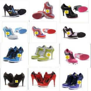 nike dunk high heel sneakers