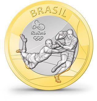 Moedas - Rio 2016 - Rúgbi
