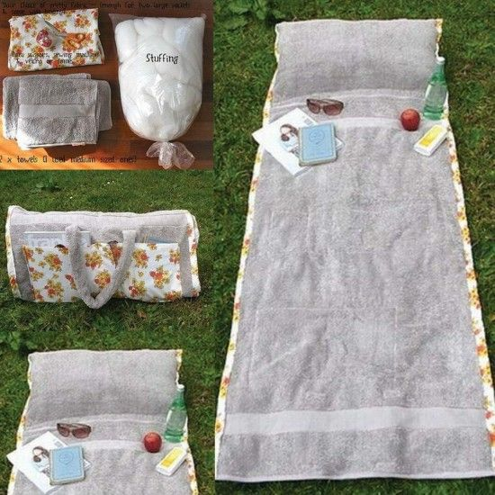 DIY Towel Bag perfect for summer, the pool and beach