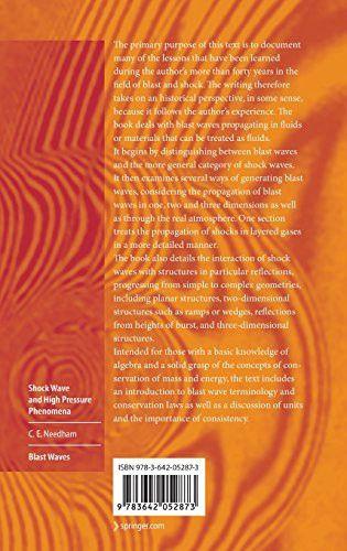 Blast Waves (Shock Wave and High Pressure Phenomena)