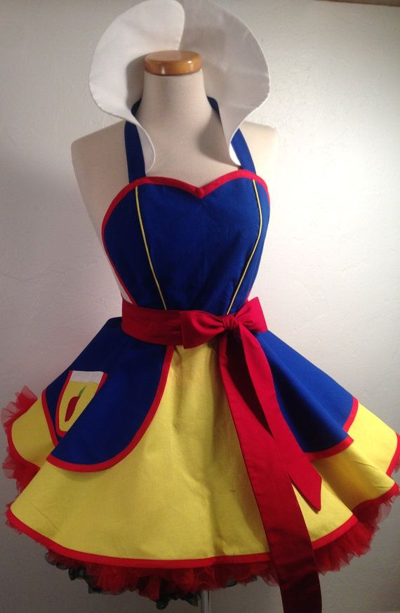 Snow White Costume Apron Woodland Princess by SassyFrasCollection