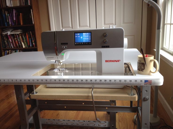 Sew Perfect Quilt Pro 2 shown with a Bernina 780 www.sewperfecttables.com